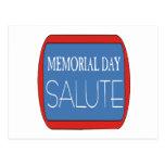 Memorial Day Salute Post Card