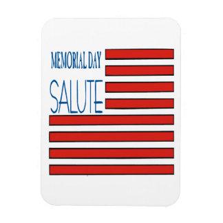 Memorial Day Salute Rectangular Photo Magnet