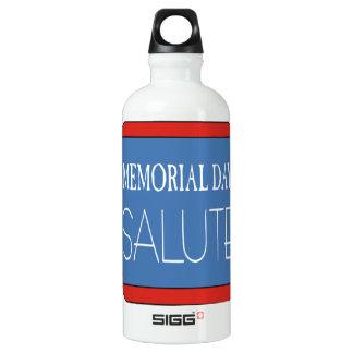 Memorial Day Salute Water Bottle