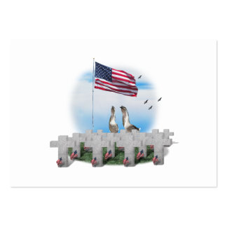 Memorial Day Saluting Geese Large Business Cards (Pack Of 100)