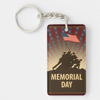 Memorial Day Single-Sided Rectangular Acrylic Keychain