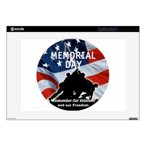 Memorial Day Skins Para 38,1cm Portátil