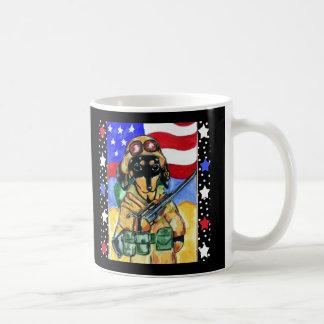 Memorial Day Soldier Dachshund Coffee Mug
