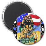 Memorial Day Soldier Dachshund Magnet