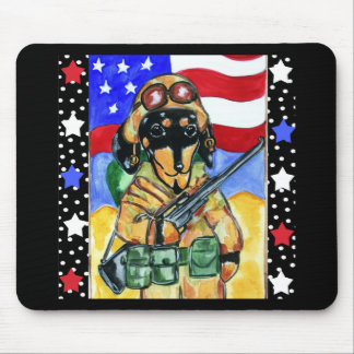 Memorial Day Soldier Dachshund Mouse Pad