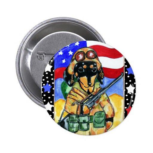 Memorial Day Soldier Dachshund Pins