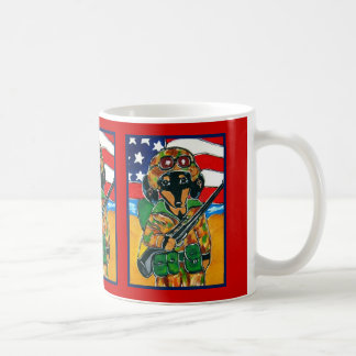 Memorial Day - Soldier Doxie Coffee Mug