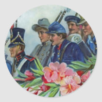 Memorial Day Soldiers Classic Round Sticker