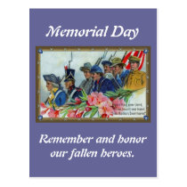 Memorial Day Soldiers Postcard