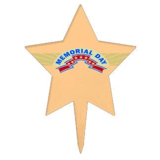Memorial Day Stars - Cake Picks