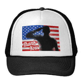 Memorial Day Thank You American Flag Trucker Hat