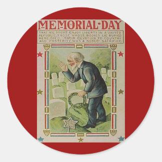 Memorial Day The Fallen Classic Round Sticker