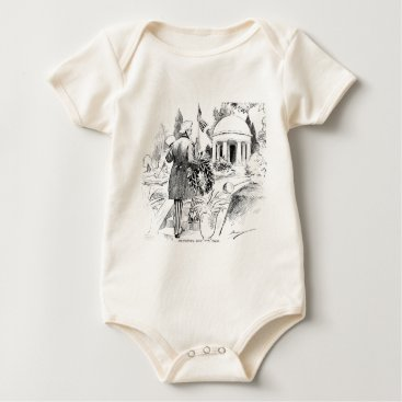 USA Themed Memorial Day Uncle Sam Vintage Patriotic Cartoon Baby Bodysuit