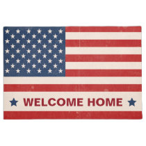 Memorial Day US American Flag Stars - Welcome Home Doormat