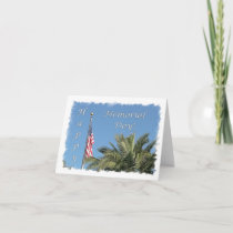 Memorial Day USA Flag Palm Note Card