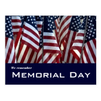 Memorial Day - we remember Postcard