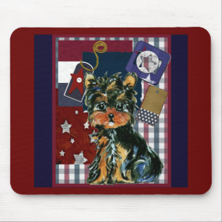 MEMORIAL DAY YORKIE MOUSE PAD