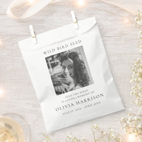 Memorial Feed the Birds   Seed Packet Funeral Favor Bag