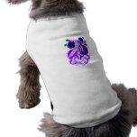 Memorial Female Surfer Purple Dog Tee Shirt