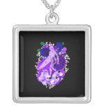 Memorial Female Surfer Purple Necklaces