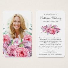 Memorial Floral Prayer Card | Country Garden