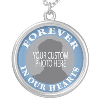 Memorial Forever in our Hearts custom photo Custom Necklace