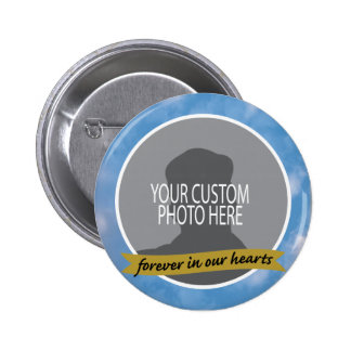 Memorial Forever with sky border custom photo Button
