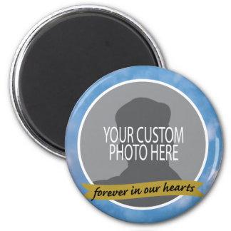 Memorial Forever with sky border custom photo Magnet