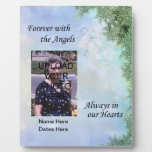 Memorial Forever with the Angels Plaque- Customize