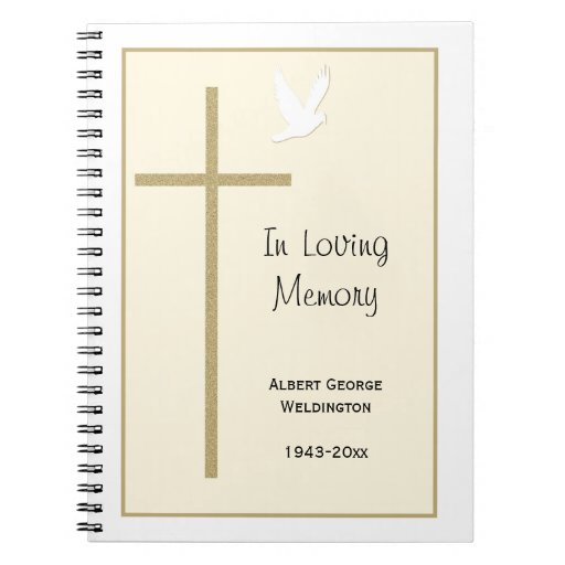 Guest Book Cover Template ~ Funeral guest book template covers