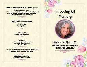funeral programs zazzle