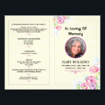 """Memorial Funeral Program Template Flyer<br><div class=""""desc"""">Lovely funeral program/obituary that celebrates the life of a loved one.</div>"""