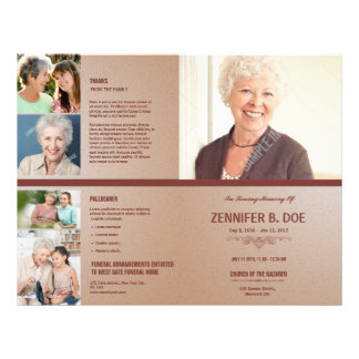 Memorial Funeral Program Template Flyer  Funeral Flyer Template