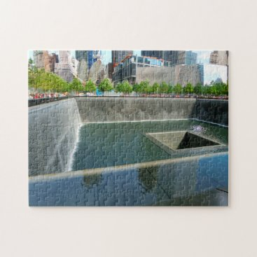 USA Themed Memorial Ground Zero New York. Jigsaw Puzzle