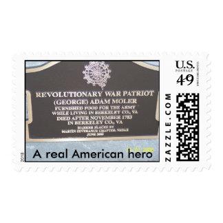 Memorial Headstone of Adam Moler Postage Stamp