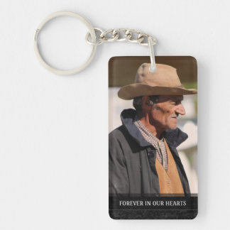 Memorial - Horses Running - They Are Where We Are Double-Sided Rectangular Acrylic Keychain