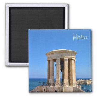 Memorial in Baracca Gardens in Malta 2 Inch Square Magnet