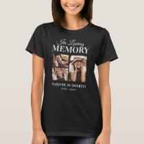 Memorial In Loving Memory 3x Picture T-Shirt