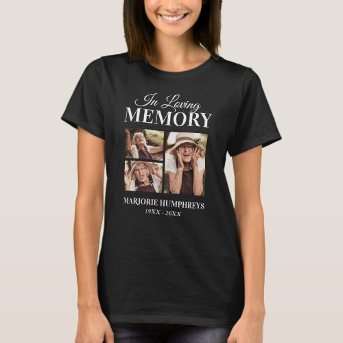 Memorial In Loving Memory 3x Picture T_Shirt