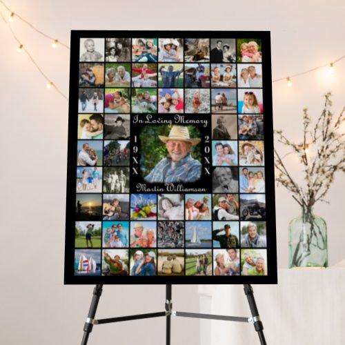 Memorial IN LOVING MEMORY 55 Photo Collage Black Foam Board