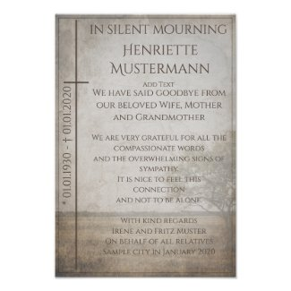 In silent mourning -...