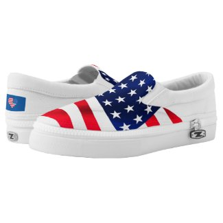 Memorial /July 4th Zipz Slip On Shoes M&W Sizes
