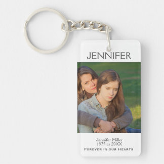 Memorial | Keepsake Double-Sided Rectangular Acrylic Keychain