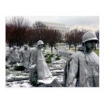 memorial korean war postcard
