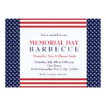 Memorial Labor Day Barbecue Party Event Invitation