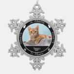 Memorial - Loss of Cat - Custom Photo/Name Ornament