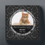 """Memorial - Loss of Cat - Custom Photo/Name Plaque<br><div class=""""desc"""">Insert your cat&#39;s photo,  name and birth/death dates in this custom plaque to memorialize your beloved pet.</div>"""