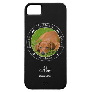 Memorial - Loss of Dog- Custom Photo/Name iPhone SE/5/5s Case