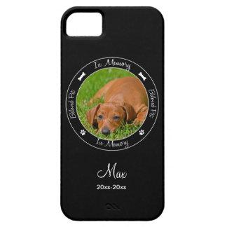 Memorial - Loss of Dog- Custom Photo/Name iPhone SE/5/5s Case