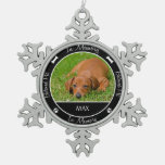 Memorial - Loss of Dog- Custom Photo/Name Ornaments